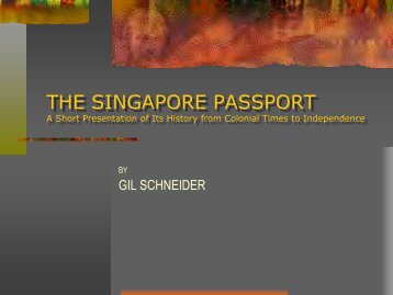 The Singapore Passport - Passport-Collector.com
