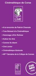 Programme avril mai 2010 - Cinémathèque de Corse