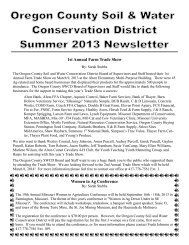 Summer 2013 Newsletter - Soil and Water Conservation Districts