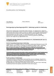 Veiledning og maler for listeforslag til stortingsvalget 2013