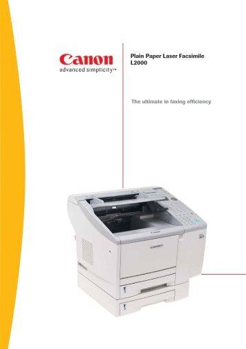 Plain Paper Laser Facsimile L2000