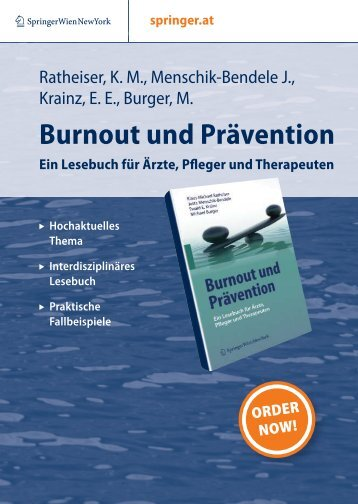 Burnout und Prävention - Dr. Michael Burger