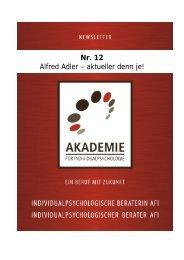 Alfred Adler - Akademie für Individualpsychologie