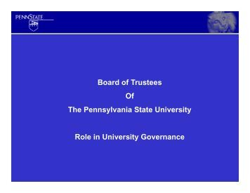 Karen Peetz presentation to University Faculty Senate 3-13-12