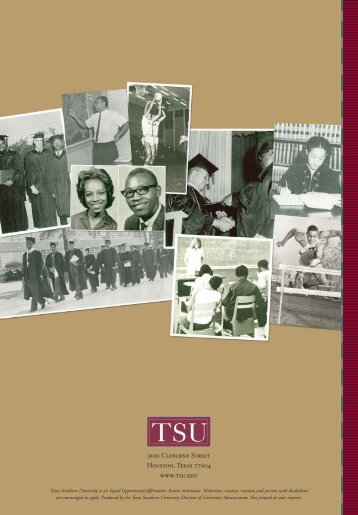 2009 Annual Report - Texas Southern University