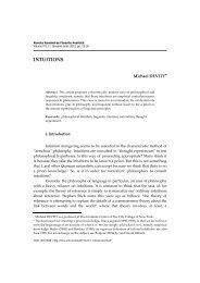 INTUITIONS - Societatea Română de Filosofie Analitică