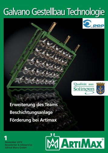 ca. 0,5 MB (PDF) - ARTIMAX • Galvano Gestellbau Technologie
