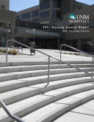 2011 Nursing Annual Report - UNM Hospitals - University of New ...