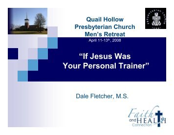 Jesus as Your Personal Trainer - Faith and Health Connection