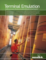 download terminal emulation product datasheet - Wavelink