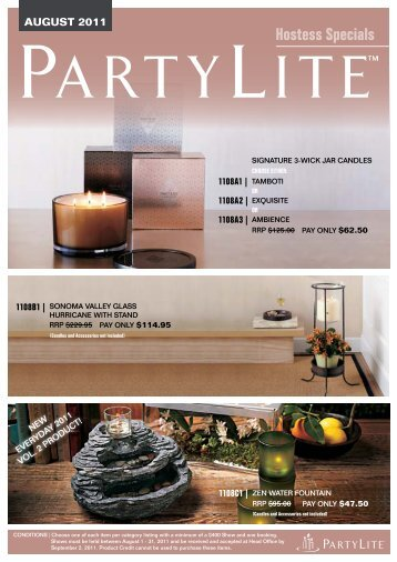 hostess specials - PartyLite Consultant Business Center