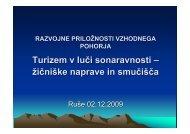 Turizem v luči sonaravnosti - žičniške naprave in smučišča (Gorazd ...