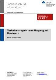 FA 007 Verhaltensregeln beim Umgang mit Baulasern 02 11 - Stabila