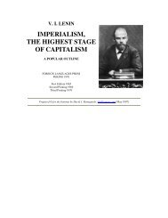 Imperialism the Highest Stage of Capitalism A Popular Outline