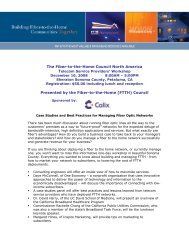 The Fiber-to-the-Home Council North America - Calix