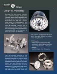 Design for Affordability - Barber-Nichols Inc.