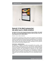 BeoLab 12 On-Wall-Lautsprecher: Ab sofort auch in ... - vademecom
