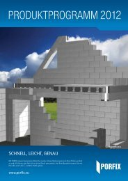 Produktprogramm PORFIX 2012 im Format-pdf zum download
