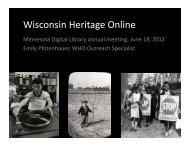 Wisconsin Heritage Online - Minnesota Digital Library