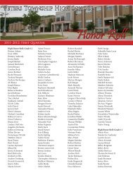 PTHS Quarter 1 Honor Roll - Peters Township School District