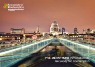 Get Ready for Roehampton Pre-Departure Guide
