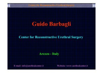 surgical techniques and results of the bulbar urethral stricture ...