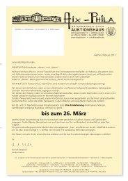 bis zum 26. März - Aix-Phila Briefmarken GmbH