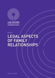 legal aspects of family relationships - Law Reform Commission