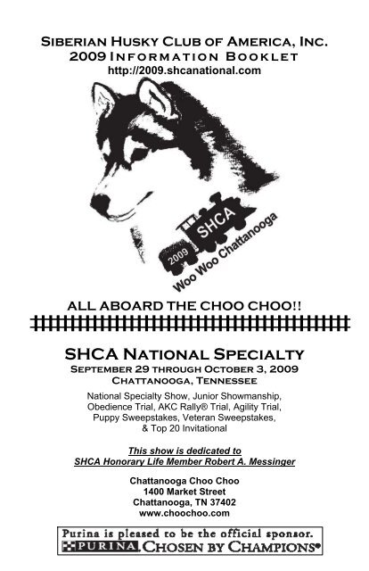 Information Booklet Siberian Husky Club Of America Inc