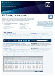 to find out more - Autobahn - Deutsche Bank