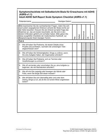 add checklist for adults