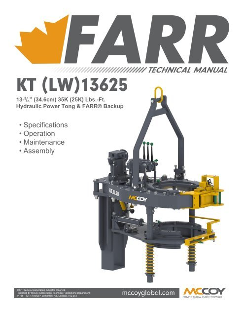 KT13625 with Farr Backup and Compression Load Cell - McCoy