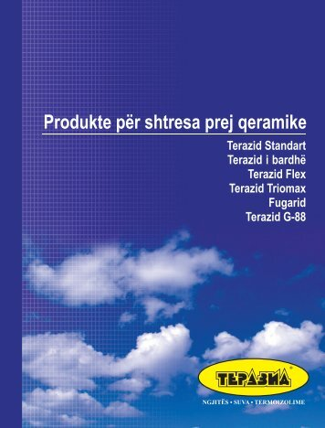 Product catalogue in Albanian - Terazid