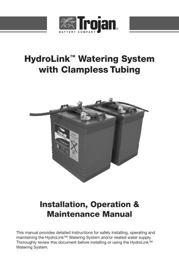 Hydrolink wateri clampless watering system manual batteriesinaflash sciox Gallery
