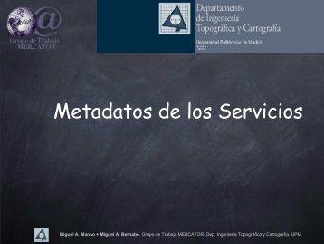 Metadatos de los Servicios - ETSI Topografia (UPM)