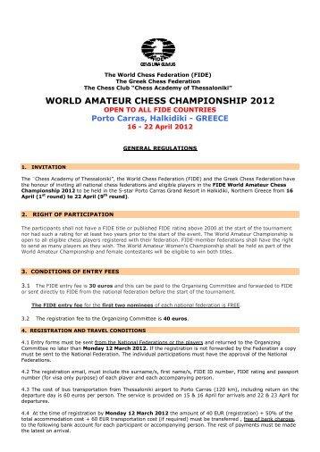 WORLD AMATEUR CHESS CHAMPIONSHIP 2012 - World School ...