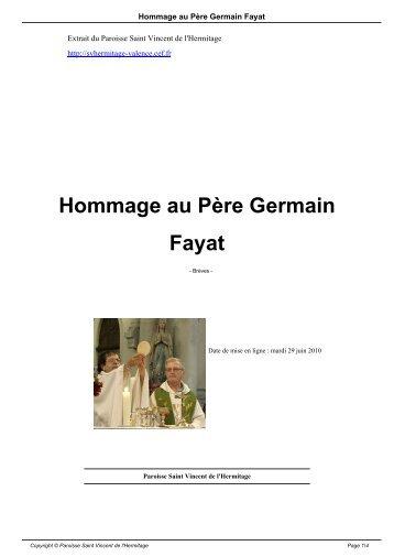 Hommage au Père Germain Fayat - Paroisse Saint Vincent de l ...