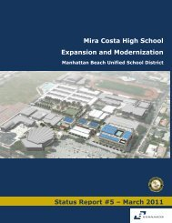 statusreport5 - Manhattan Beach Unified School District