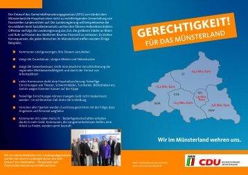 Die Ungerechtigkeit der Landesregierung - CDU Gemeindeverband ...