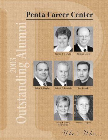 2003 Outstanding Alumni - Penta Career Center