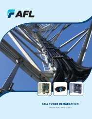 Cell Tower Demarcation Products - AFL