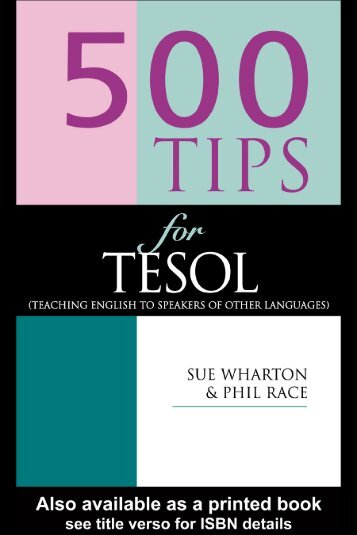 500 Tips for TESOL Teachers