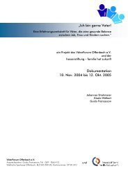 Dokumentation, Erfahrungswerkstatt d. VäterForum Offenbach e.V.
