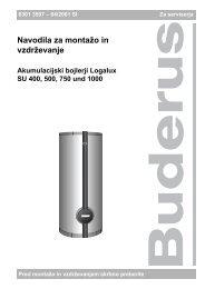 Navodila za montažo in vzdrževanje - Buderus