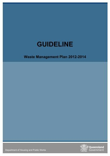 Guideline to the Waste Management Plan - Department of Housing ...