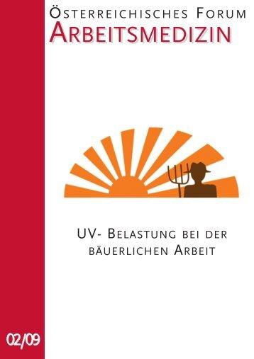 UV- Belastung bei der bäuerlichen Arbeit - Österreichische ...