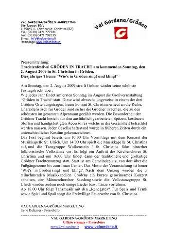 Gröden in Tracht 2009 - Val Gardena
