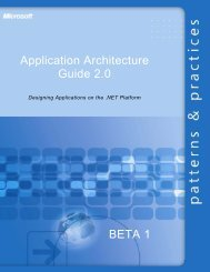 Application Architecture Guide 2.0 BETA 1 - Willy .Net