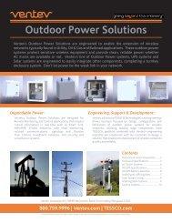 Outdoor Power Solutions - Tessco