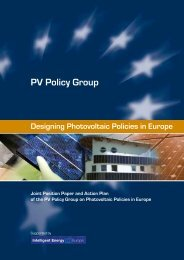 Joint European Position paper and Action plan - PV Policy Group